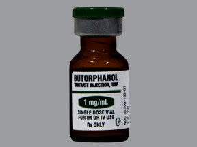 butorphanol tartrate 1 mg/mL injection solution