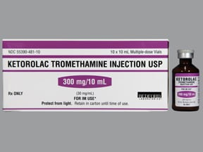 ketorolac 30 mg/mL injection solution
