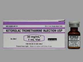 ketorolac 30 mg/mL (1 mL) injection solution