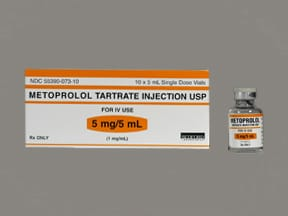 metoprolol tartrate 5 mg/5 mL intravenous solution