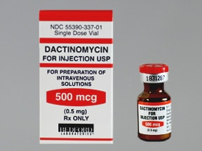 dactinomycin 0.5 mg intravenous solution