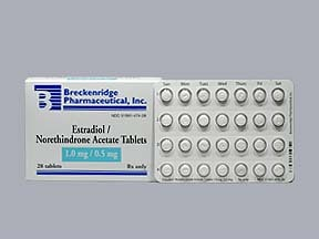 estradiol-norethindrone acet 1 mg-0.5 mg tablet
