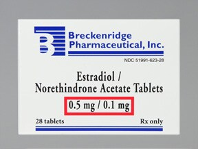 estradiol-norethindrone acet 0.5 mg-0.1 mg tablet