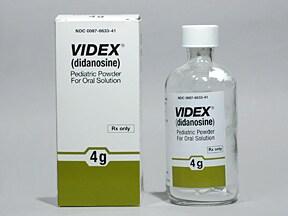 Videx 4 gram Pediatric 10 mg/mL (Final Conc.) oral solution