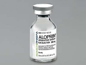 Aloprim 500 mg intravenous solution