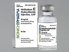 methadone 10 mg/mL injection solution