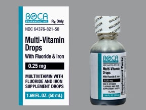 Multi-Vit with Fluoride and Iron 0.25 mg-10 mg/mL oral drops