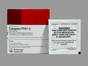 Catapres-TTS-2 0.2 mg/24 hr transdermal patch