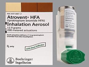 Atrovent HFA 17 mcg/actuation aerosol inhaler