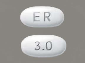 Mirapex ER 3 mg tablet,extended release