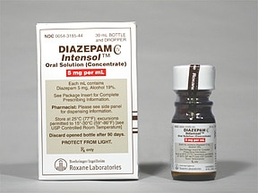 Diazepam Intensol 5 mg/mL oral concentrate