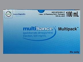 Multihance Multipack 529 mg/mL (0.1 mmol/0.2 mL) intravenous solution