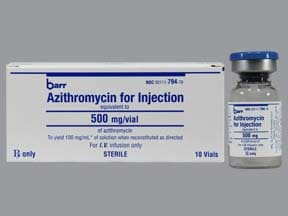 azithromycin 500 mg intravenous solution