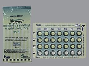 Nortrel 0.5/35 (28) 0.5 mg-35 mcg tablet