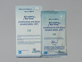 Nortrel 1/35 (28) 1 mg-35 mcg tablet