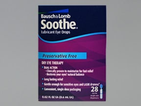 Soothe Lubricant 0.6 %-0.6 % eye drops in a dropperette