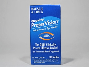 PreserVision AREDS 7,160 unit-113 mg-100 unit tablet