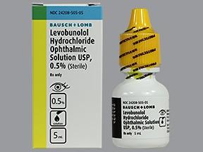 levobunolol 0.5 % eye drops