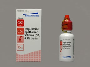 tropicamide 0.5 % eye drops