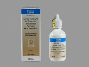 acetic acid-aluminum acetate 2 % ear drops