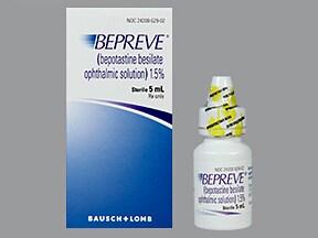 Bepreve 1.5 % eye drops