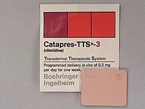 Catapres-TTS-3 0.3 mg/24 hr transdermal patch