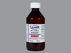 escitalopram 5 mg/5 mL oral solution