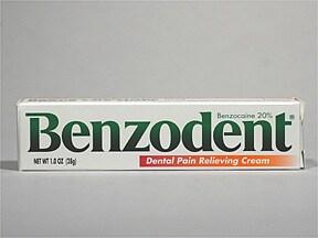 Benzodent 20 % gum/denture cream