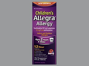 Children's Allegra Allergy 30 mg/5 mL oral suspension