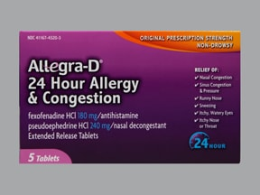 Allegra-D 24 Hour 180 mg-240 mg tablet,extended release