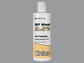 BP Wash 2.5 % topical cleanser