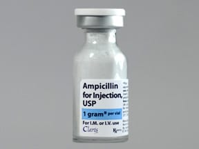 ampicillin 1 gram solution for injection