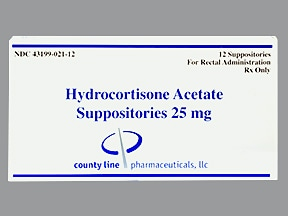 hydrocortisone acetate 25 mg rectal suppository