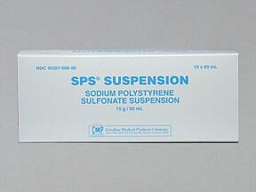 SPS (with sorbitol) 15 gram-20 gram/60 mL oral suspension