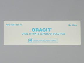 Oracit 490 mg-640 mg/5 mL oral solution