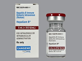 HepaGam B greater than 312 unit/mL 5 mL injection solution