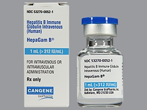 HepaGam B >312 unit/mL injection solution