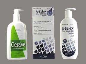 Salex 6 % topical combo pack