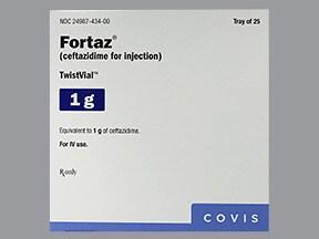 Fortaz 1 gram intravenous solution