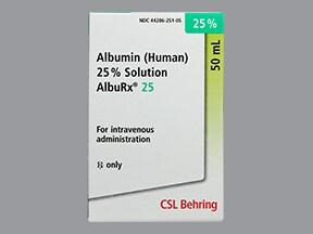 AlbuRx (Human) 25 % intravenous solution