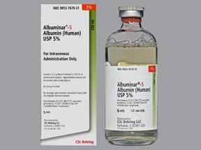 Albuminar 5 % intravenous solution