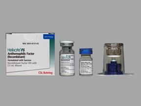 Helixate FS 250 (+/-) unit intravenous solution