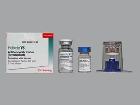 Helixate FS 500 (+/-) unit intravenous solution