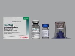 Helixate FS 1,000 (+/-) unit intravenous solution