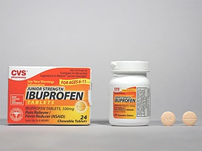Ibuprofen Jr Strength 100 mg chewable tablet