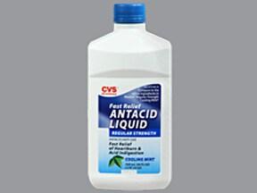 Antacid Liquid 200 mg-200 mg-20 mg/5 mL oral suspension