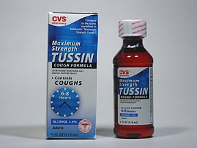 Tussin Maximum Strength 15 mg/5 mL syrup
