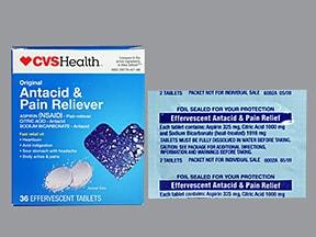 Effervescent Antacid 324 mg tablet