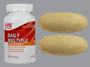 Daily Multiple For Women 18 mg iron-400 mcg-500 mg Ca tablet