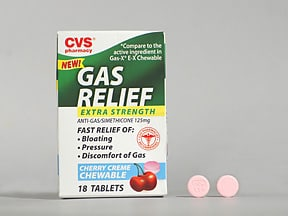 Gas Relief Extra Strength 125 mg chewable tablet